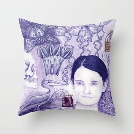 Purple Dream Scape Throw Pillow
