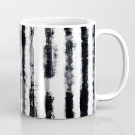 Tie-Dye Shibori Stripe BW Coffee Mug