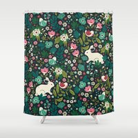 friends Shower Curtains featuring Forest Friends by Anna Deegan