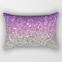 Lilac and Gray Rectangular Pillow