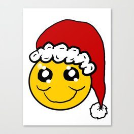 Santa Smiley Canvas Print