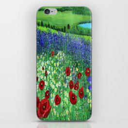 Blooming field iPhone Skin
