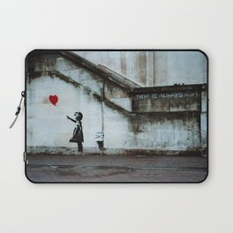 Banksy street art / photograph - girl with red ballon Laptop Sleeve
