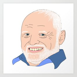 Hide Your Feelings Harold Portrait Art Print