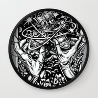 vonnegut Wall Clocks featuring cat's cradle - vonnegut by miles to go