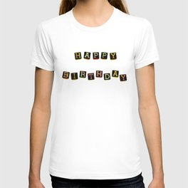 Happy Birthday Blocks T-shirt