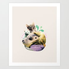 furry on the meowsea Art Print