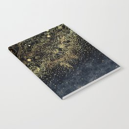 Stylish Gold floral mandala and confetti Notebook
