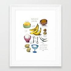 illustrated recipes: banana bread Framed Art Print