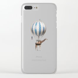 Sticking your neck out, giraffe Clear iPhone Case