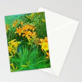 Day-glo Lilies Stationery Cards