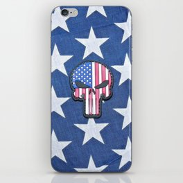 Stars Skull and Freedom  iPhone Skin