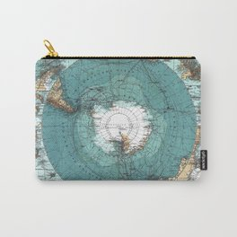 Vintage Antarctica Map Carry-All Pouch