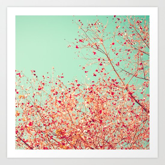 Little dots of red Art Print
