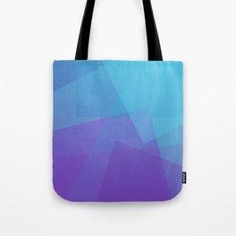 Purple Geometry Tote Bag