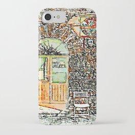 Barbarano Romano: wooden and glass door iPhone Case