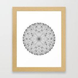 Geometric Flower Mandala - Color Your Own  Framed Art Print