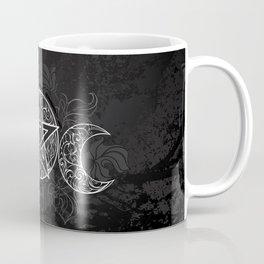 White Pentagram with Leaves Coffee Mug