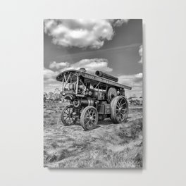 "Showmans Engine ""Lord Nelson""  Black and White Metal Print"