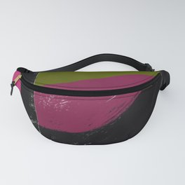 Pink, Black, Green Abstract Fanny Pack