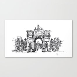 ONCE IN PARIS Canvas Print