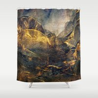 once upon a  time Shower Curtains featuring Once Upon a Time by Klara Acel