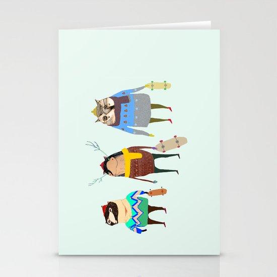 Skateboarders. Stationery Cards