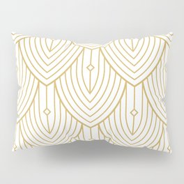 Gold and white art-deco pattern Pillow Sham