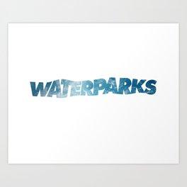 waterparks ocean Art Print