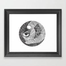 un œil andalou Framed Art Print
