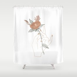 Hand Floral Shower Curtain