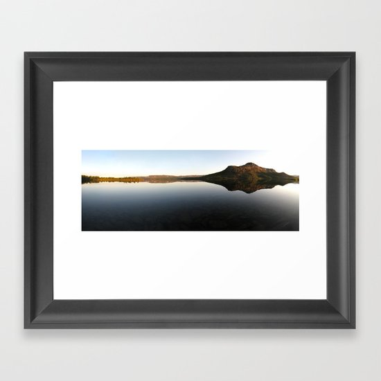 lake mirror panorama, finland. Framed Art Print