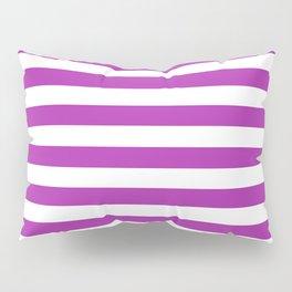 Stripes (Purple & White Pattern) Pillow Sham