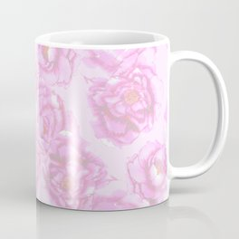 Watercolor Peonies in Pink Coffee Mug