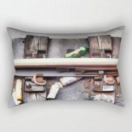 Bottles on the subway tracks Rectangular Pillow