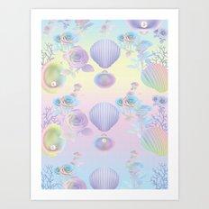 Seashell Wallpaper Art Print