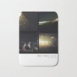 New York Nights II : Neon Gold Bath Mat