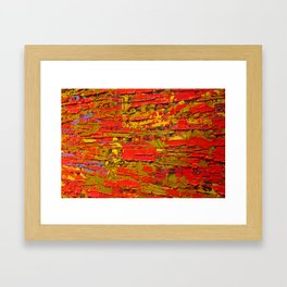 Up Close & Personal with Red Townscape II, #1 Framed Art Print