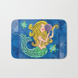 Storybook Golden Mermaid Bath Mat