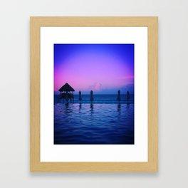 Pink Skies Pt1. Framed Art Print