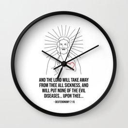 The Lord Will Take Away Wall Clock