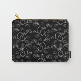 Birds of Prey - White on Black Carry-All Pouch