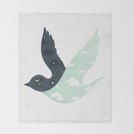 Bipolar Bird Throw Blanket