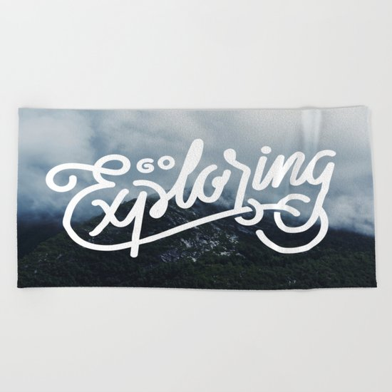 Go Exploring Beach Towel