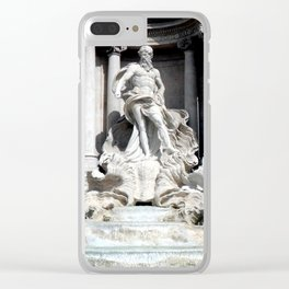Palazzo Poli and the Trevi Fountain, Rome, Italy Clear iPhone Case
