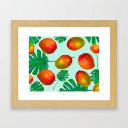Viva Mango Tropical Framed Art Print