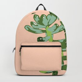 Just Peachy Desert Sprout - Succulent Green and Peach Backpack