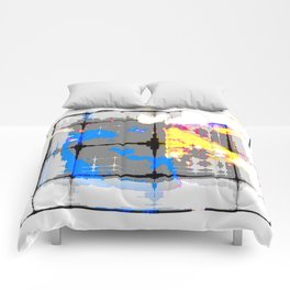 glitch abstract Comforters