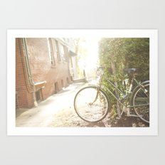 Bike Ride In the Sun Art Print