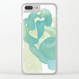Greens of Spring, transparent, swirling, endless Clear iPhone Case